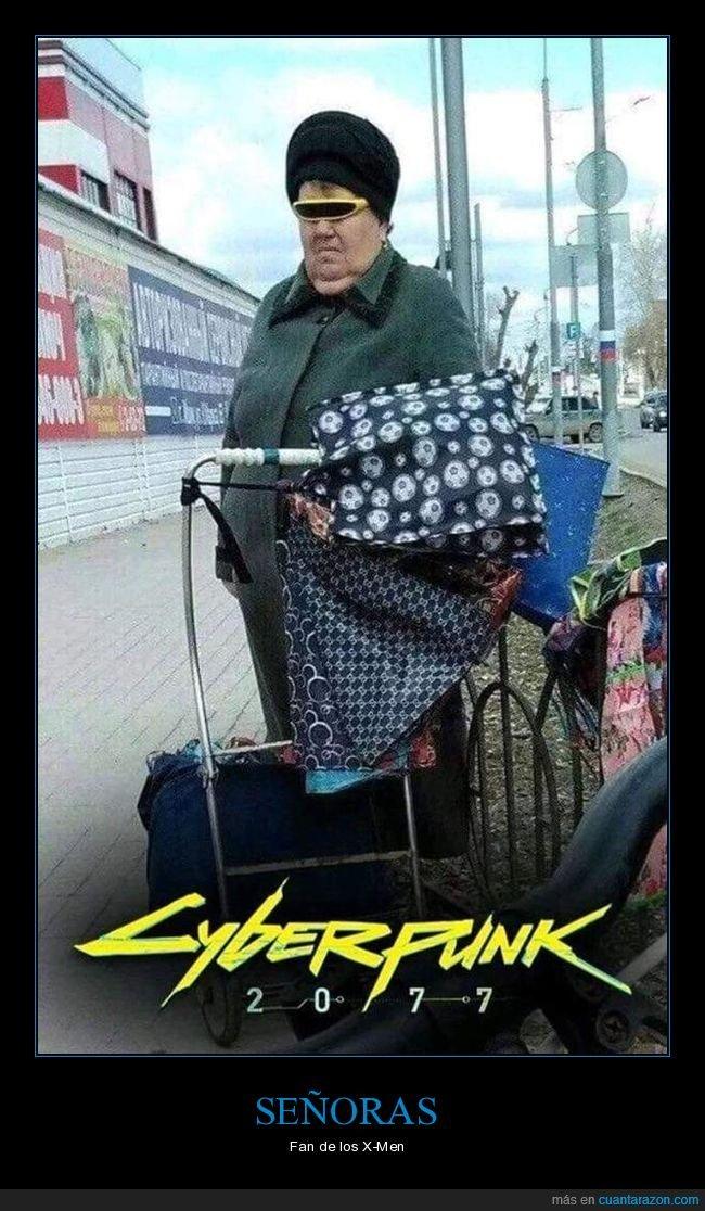 cyberpunk,gafas,señora