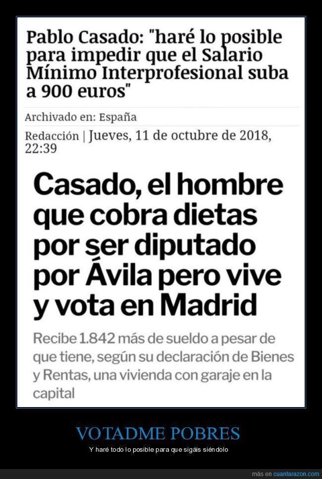 900 euros,pablo casado,salario mínimo