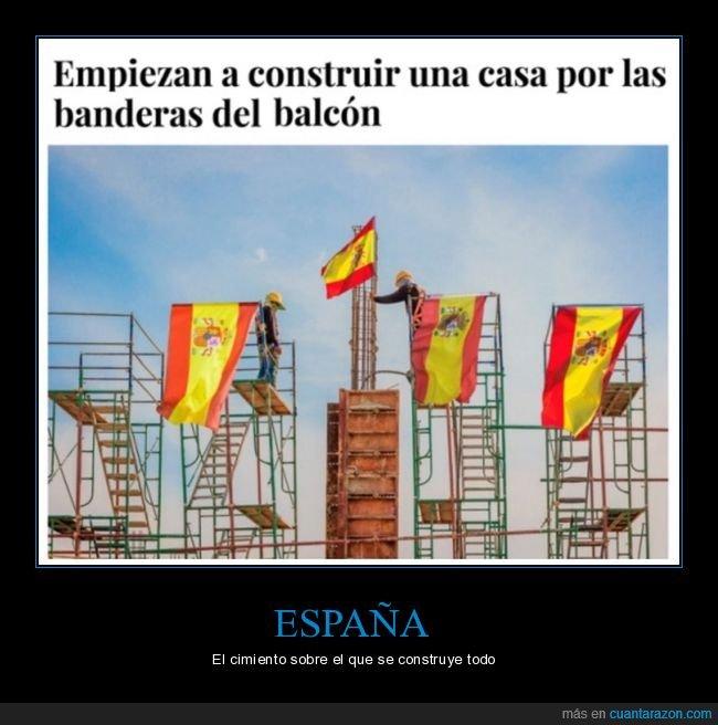 balcón,banderas,casa,construir,el mundo today