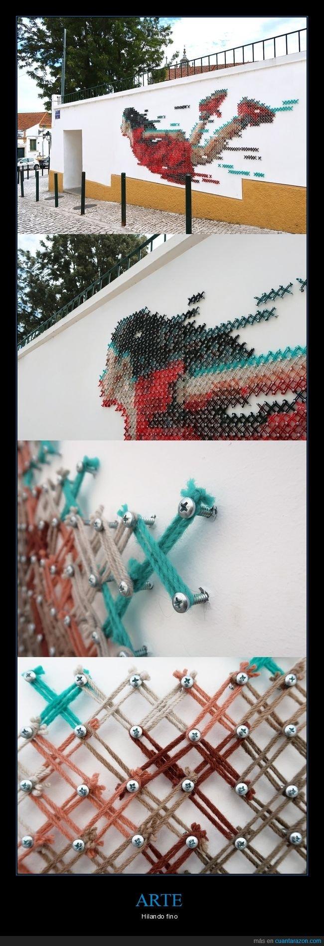 arte,hilo,tornillos