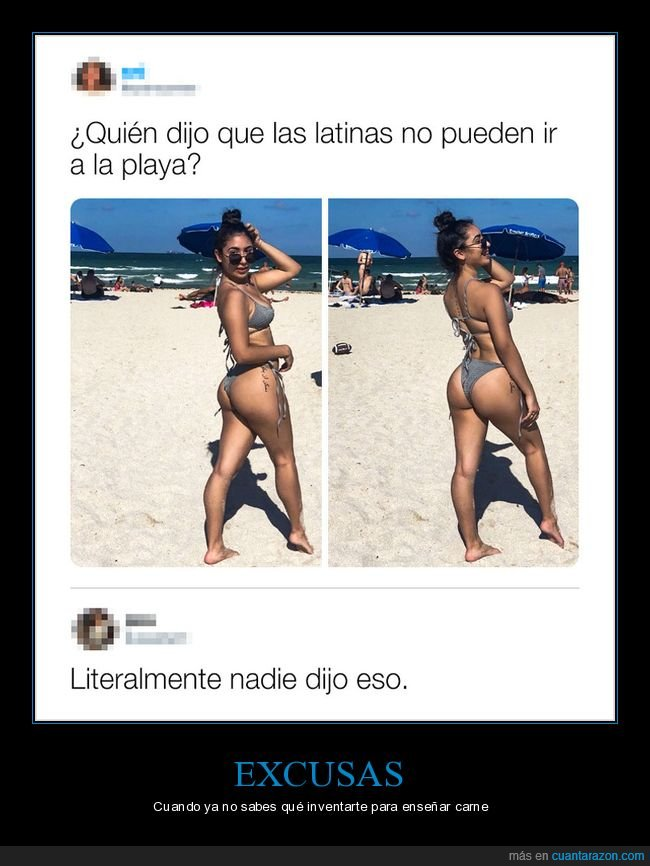 latinas,no poder ir,playa