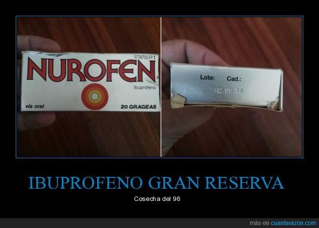 1996,fecha de caducidad,ibuprofeno