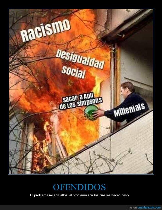 apu,desigualdad social,racismo,simpsons