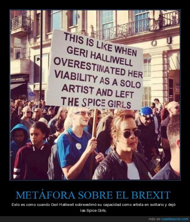 brexit,geri halliwell,pancarta,spice girls