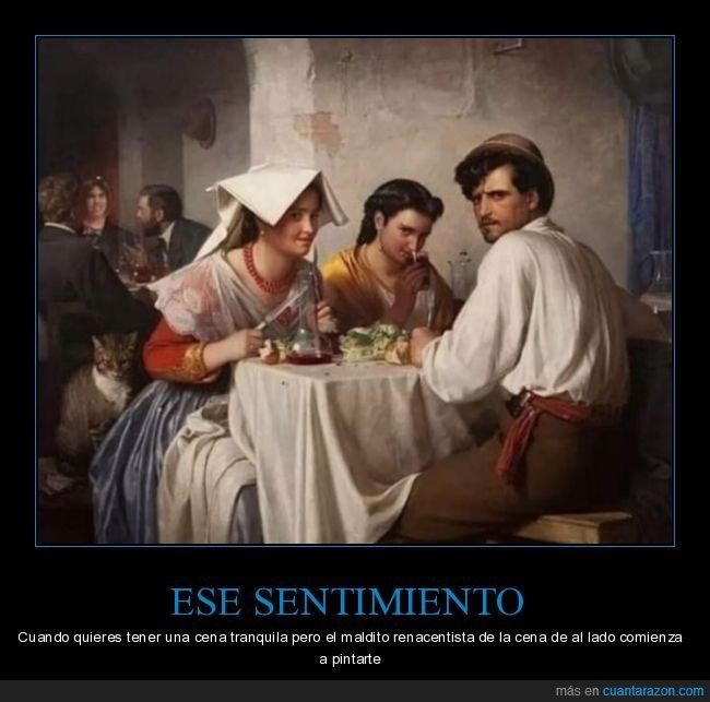 arte,cenando,pintando,renacentista