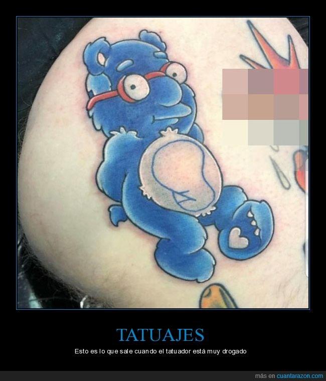 dignidad,milhouse,oso amoroso,simpsons,tatuaje