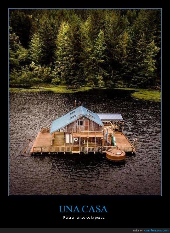 agua,casa,lago