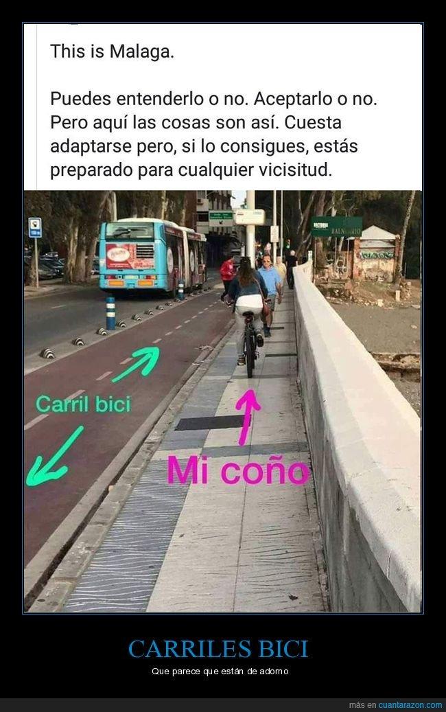 acera,bicicleta,carril bici,málaga