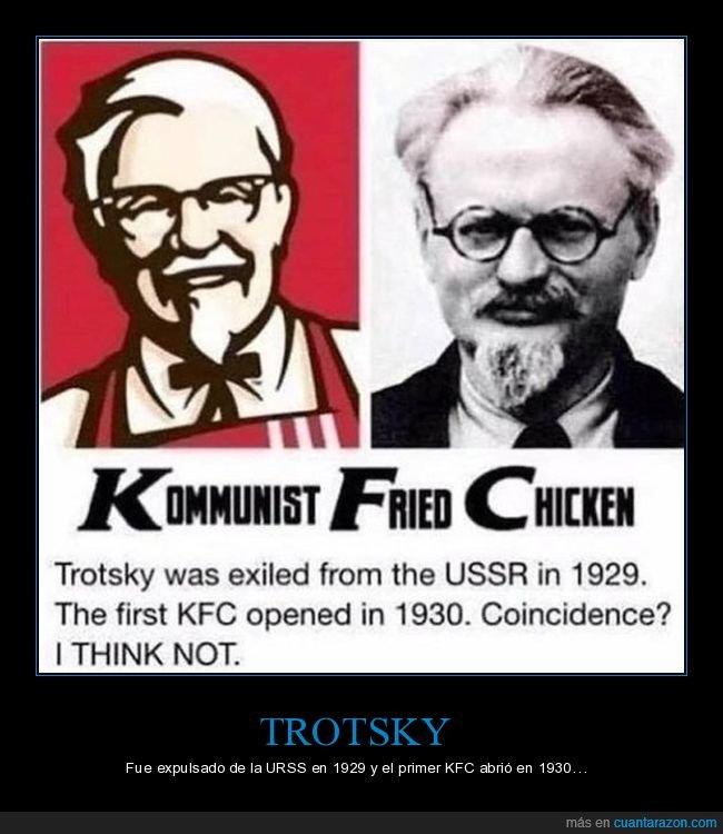 coronel sanders,kfc,parecidos,trotsky