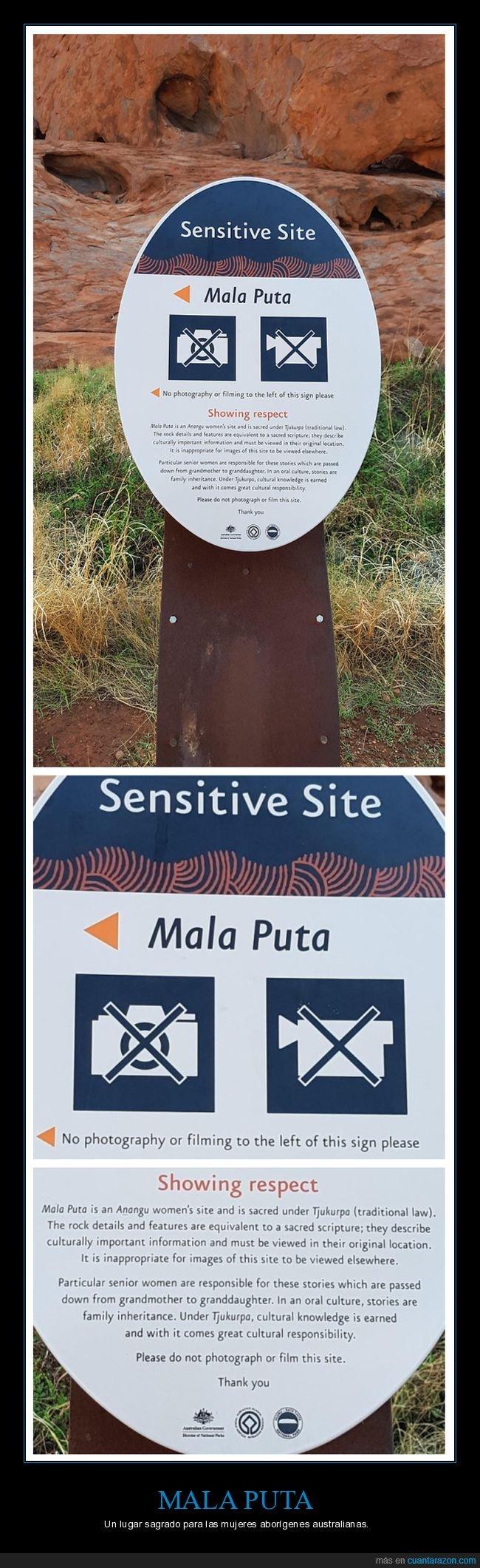 aborígenes,australia,lugar sagrado,mala puta