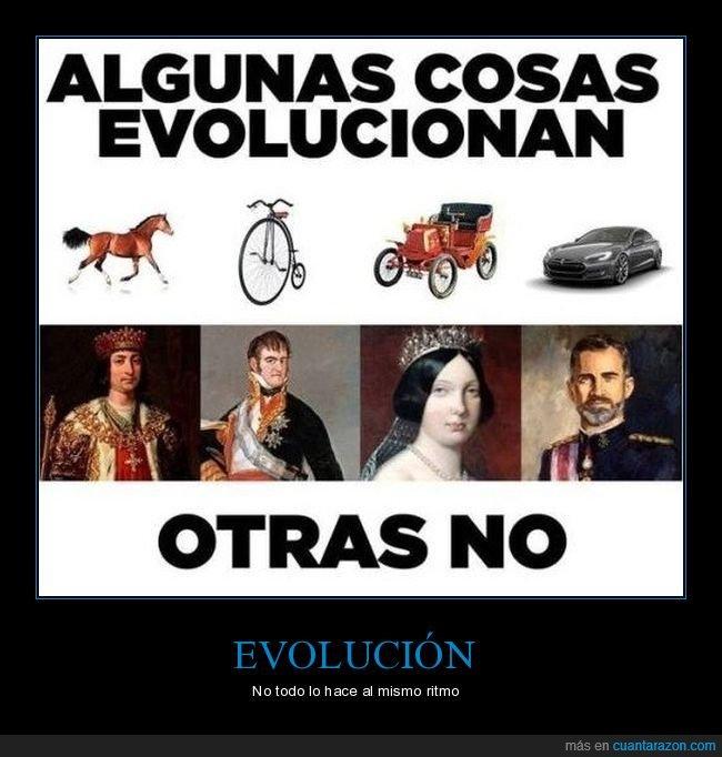evolucionar,monarquía,rey,vehículos