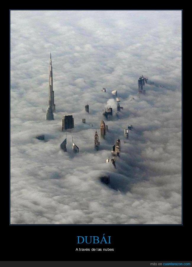 dubái,edificios,nubes,rascacielos