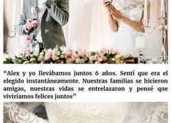 Enlace a Esta mujer recibió imágenes de los cuernos de su prometido justo antes de la boda, y leyó los mensajes en alto en vez de los votos