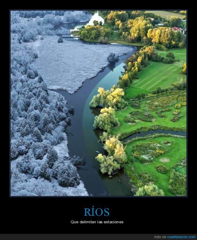 estaciones,hielo,río,separación,wtf