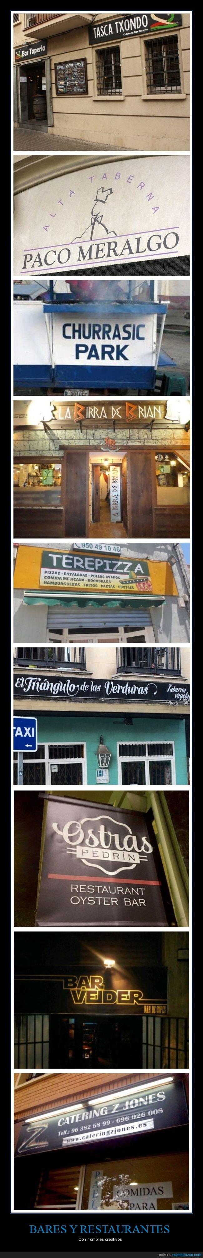 bares,nombres,restaurantes