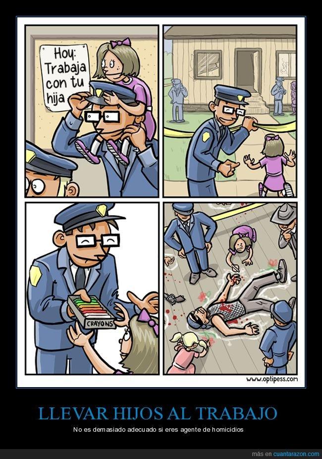 hija,muerto,policía,trabajo