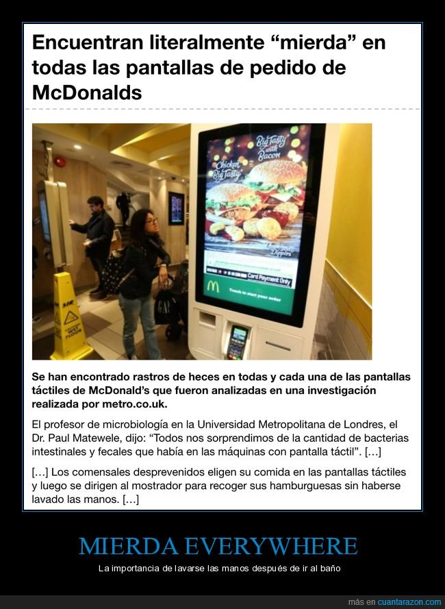 mcdonald's,mierda,pantallas
