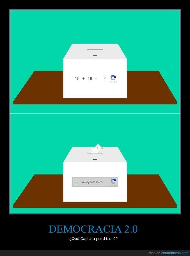 analfabeto,captcha,democracia,elecciones,urnas,votar