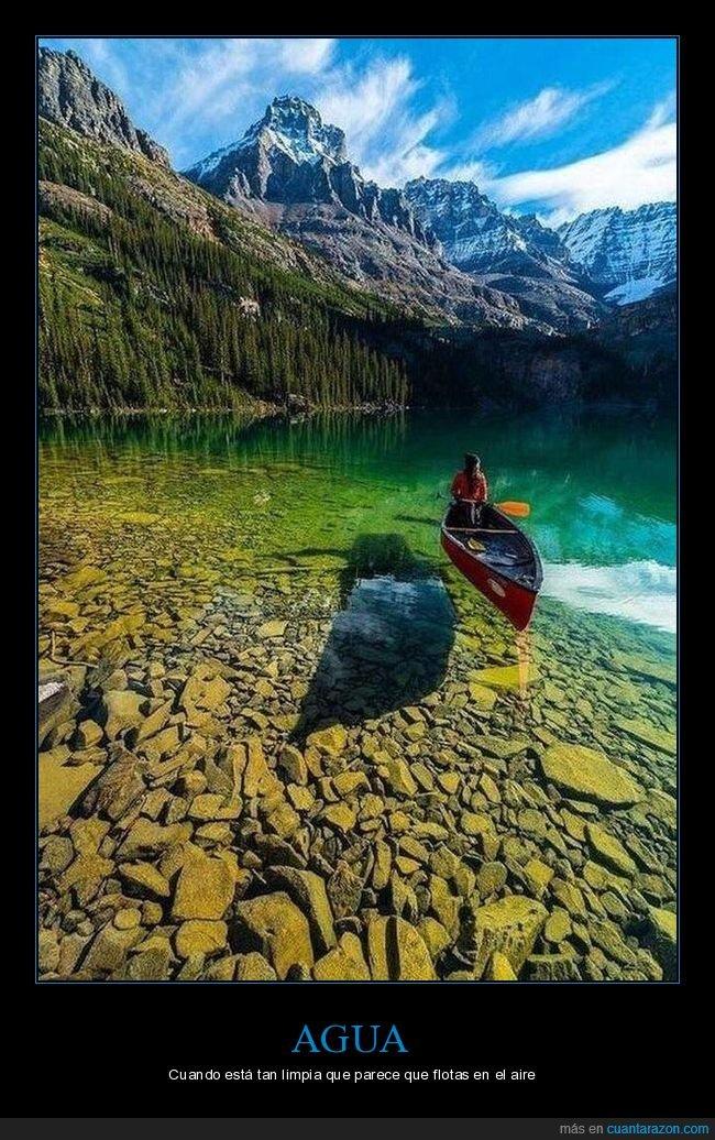 agua,canoa,limpia,transparente