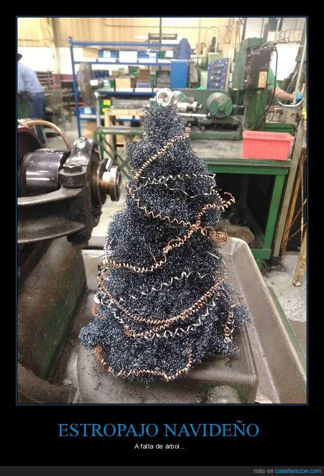 árbol,estropajo,navidad