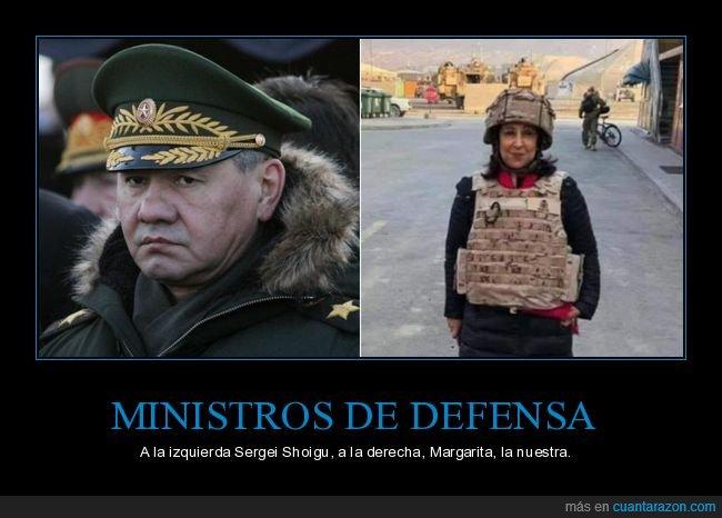 comparativa,margarita robles,ministros de defensa,políticos,sergei shoigu