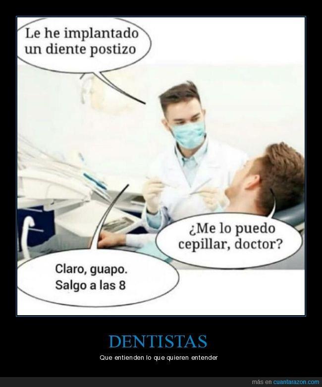 cepillar,dentista,diente,postizo