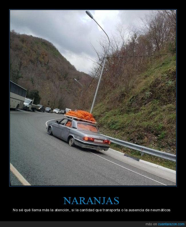 coche,naranjas,ruedas,wtf