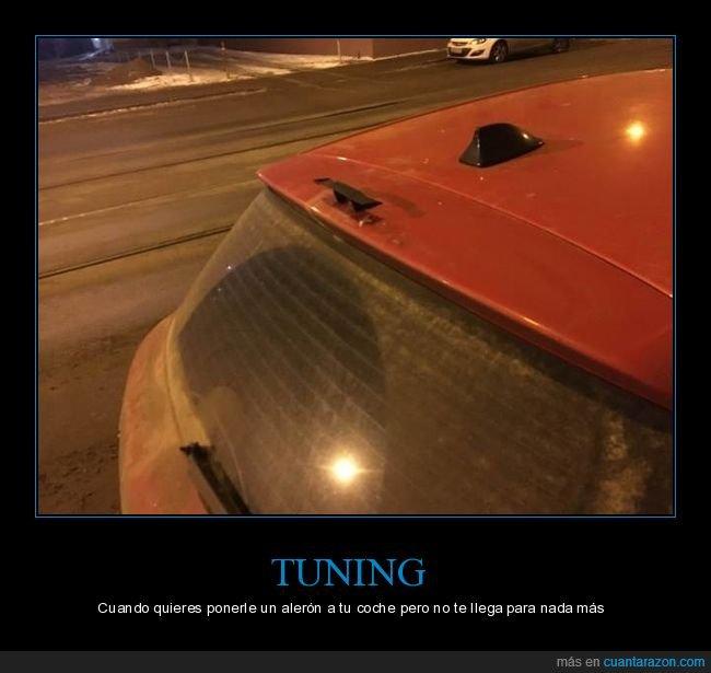 alerón,coche,pequeño,tuning