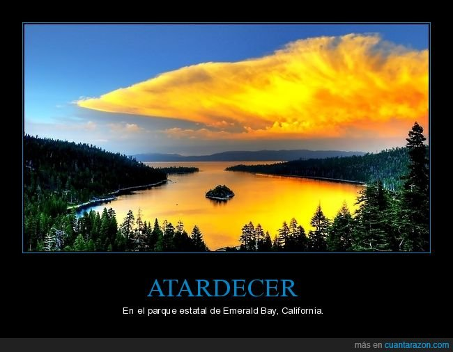 atardecer,california,emerald bay