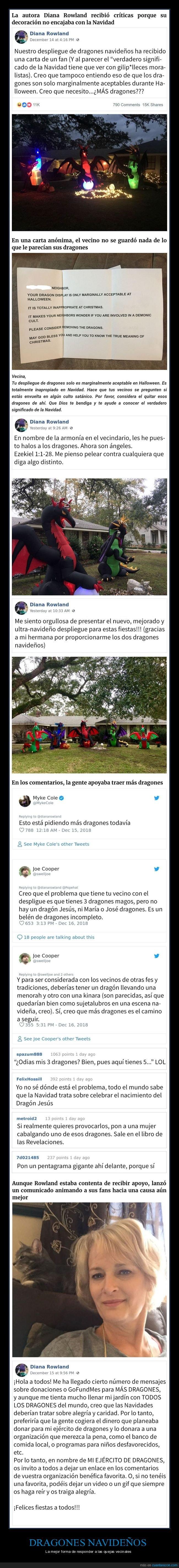dragones,navidad,vecinos