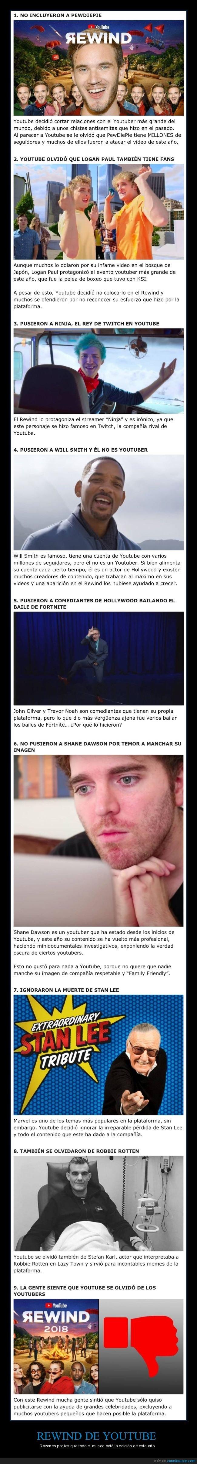 odiar,razones,rewind,youtube