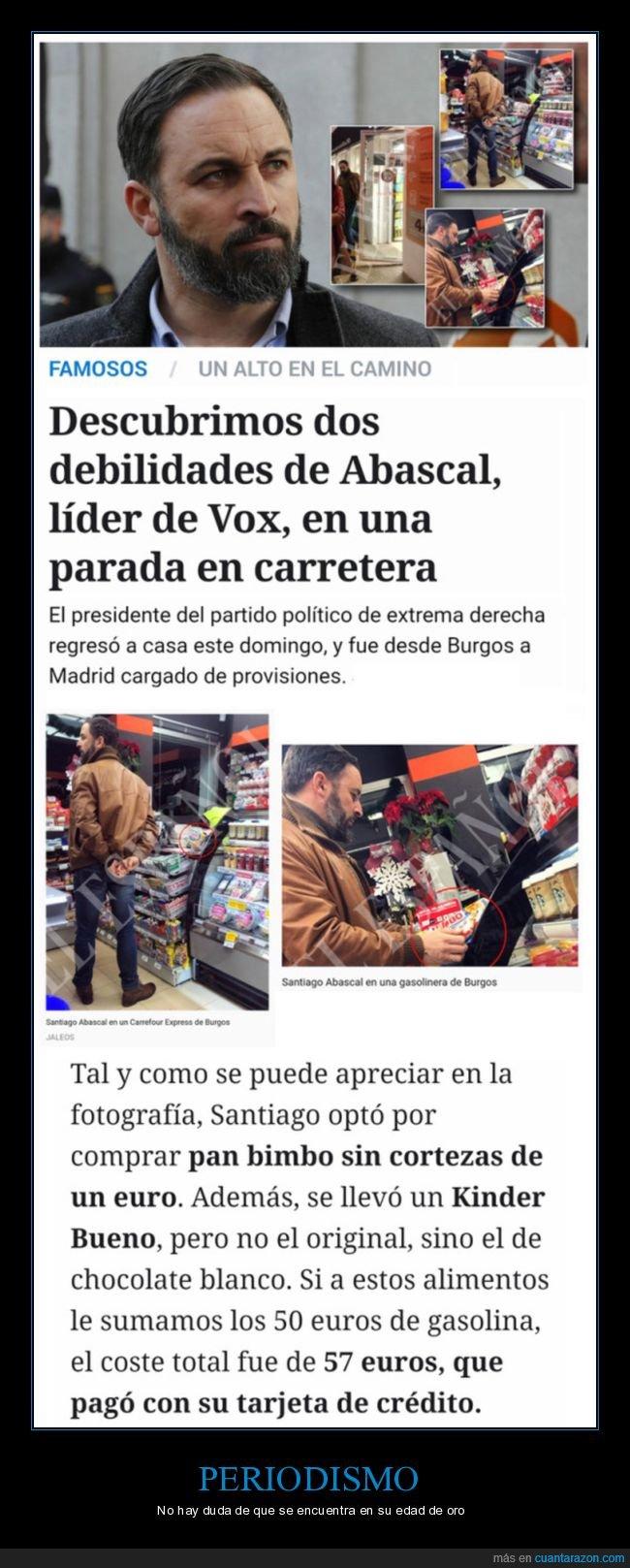 compras,políticos,santiago abascal,vox