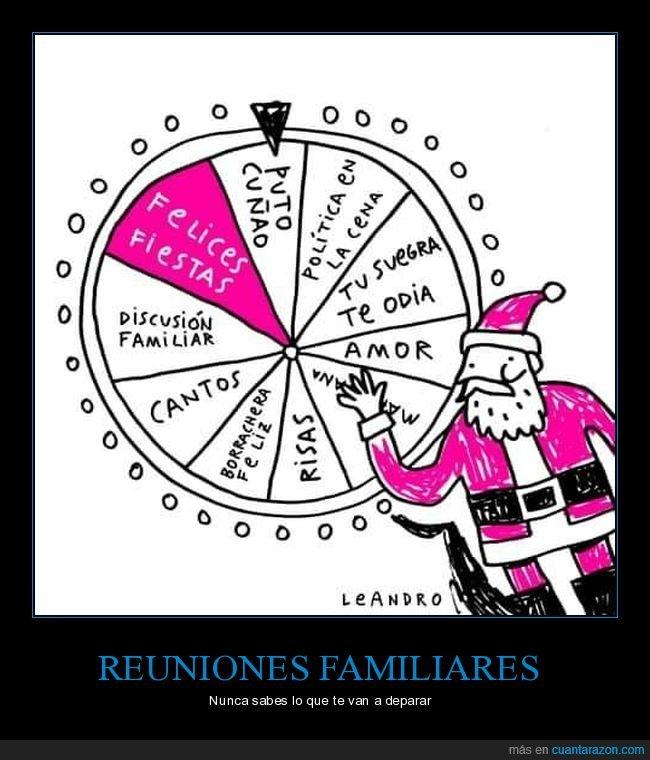 navidad,reuniones familiares,ruleta