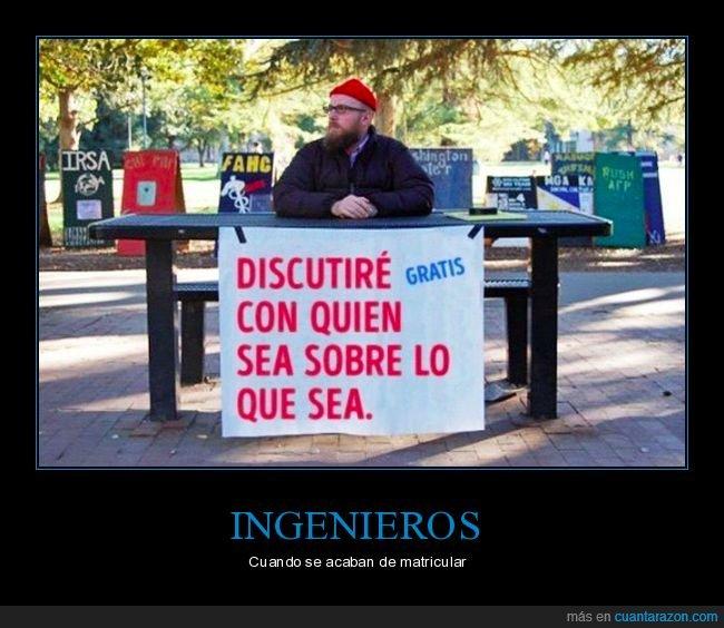 discutir,ingeniería