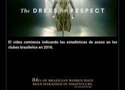 Enlace a Este vestido muestra con qué frecuencia son tocadas las mujeres sin su consentimiento