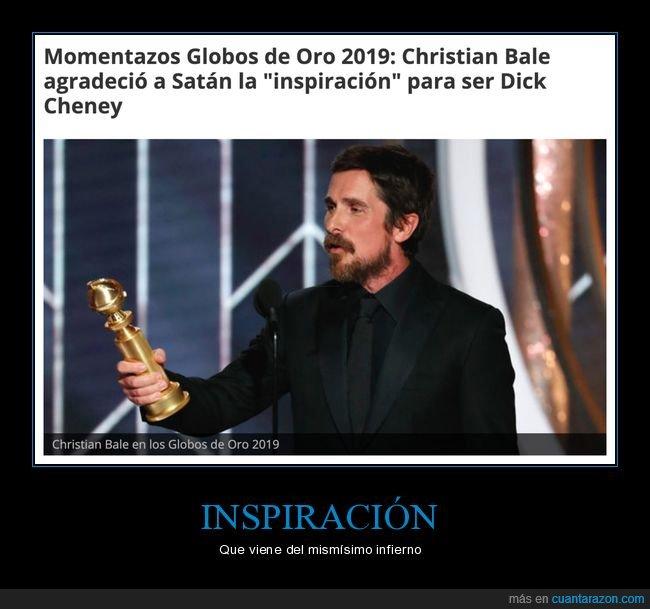 agradecimiento,christian bale,globos de oro,satán