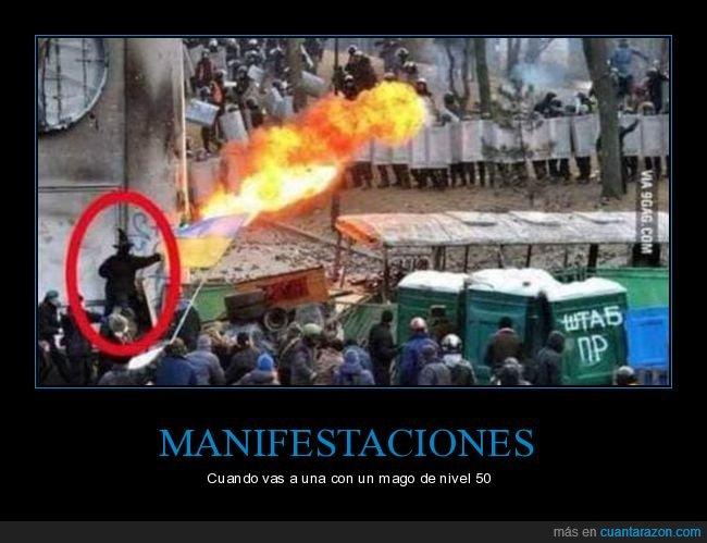 fuego,mago,manifestación