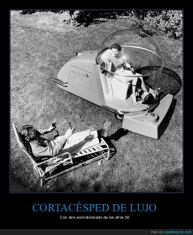 aire acondicionado,años 50,cortacésped