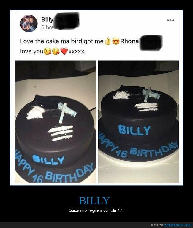 16 años,droga,tarta