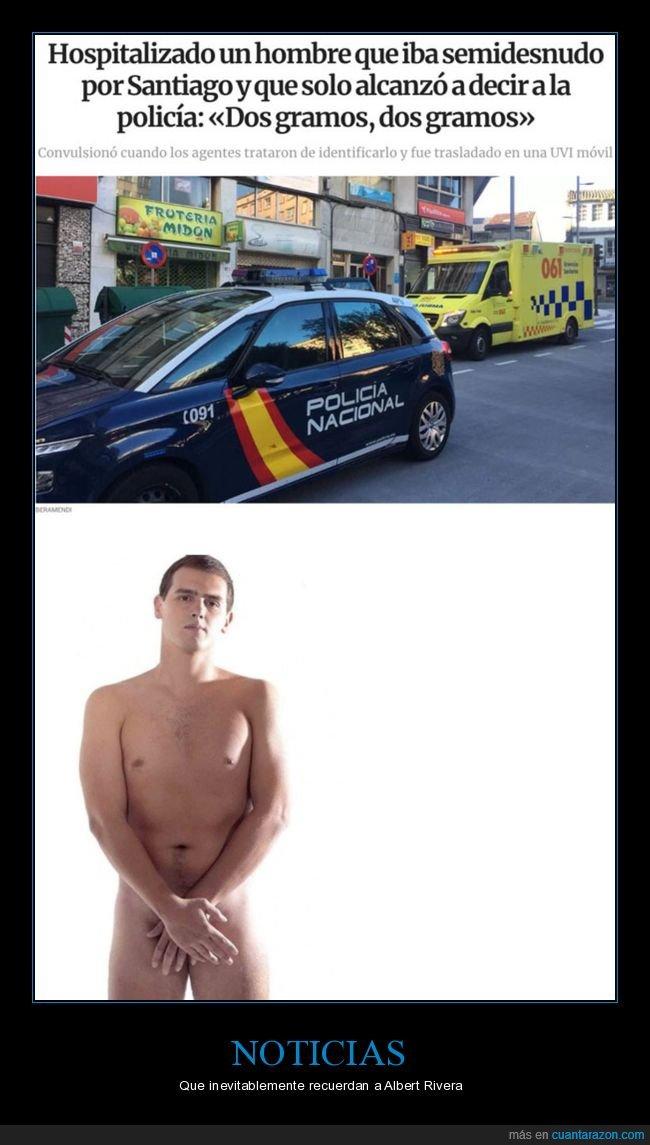 dos gramos,policía,semidesnudo