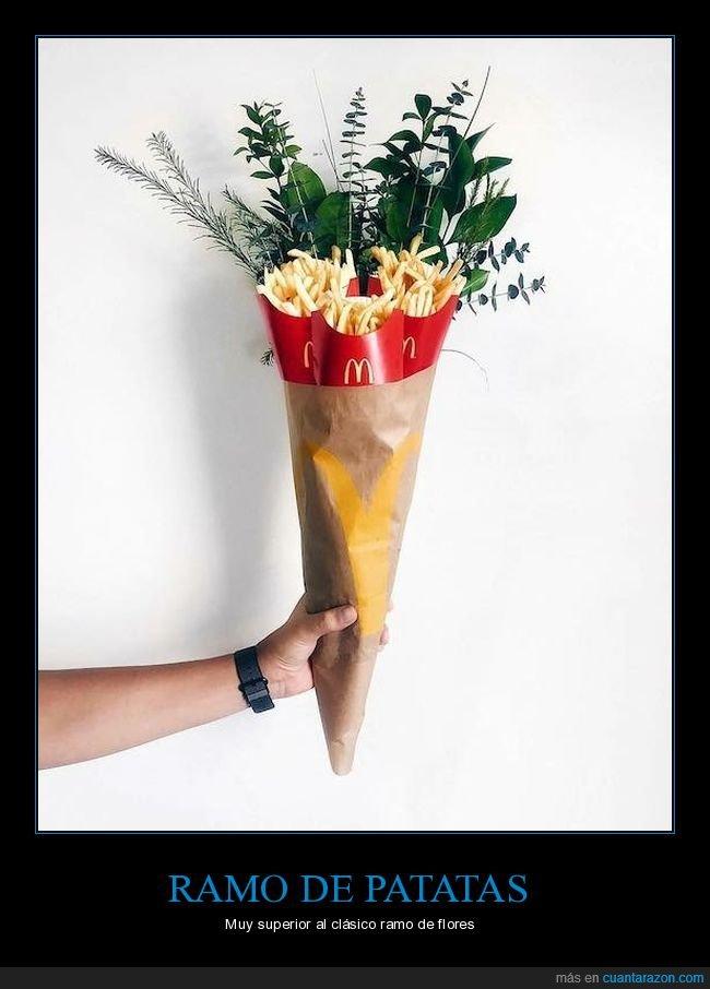 flores,patatas,ramo