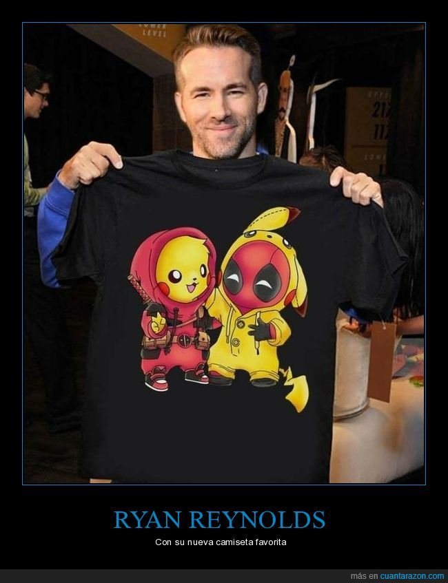 camiseta,deadpool,pikachu,ryan reynolds