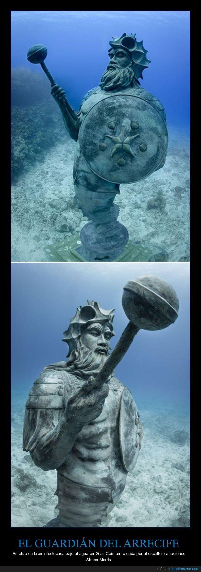 escultura,estatua,guardián del arrecife,simon morris