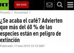 Enlace a Malas noticias para la gente cuyo combustible diario es el café