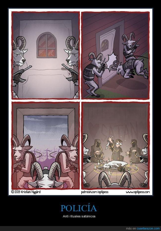 cabras,policía,ritual,sacrificio