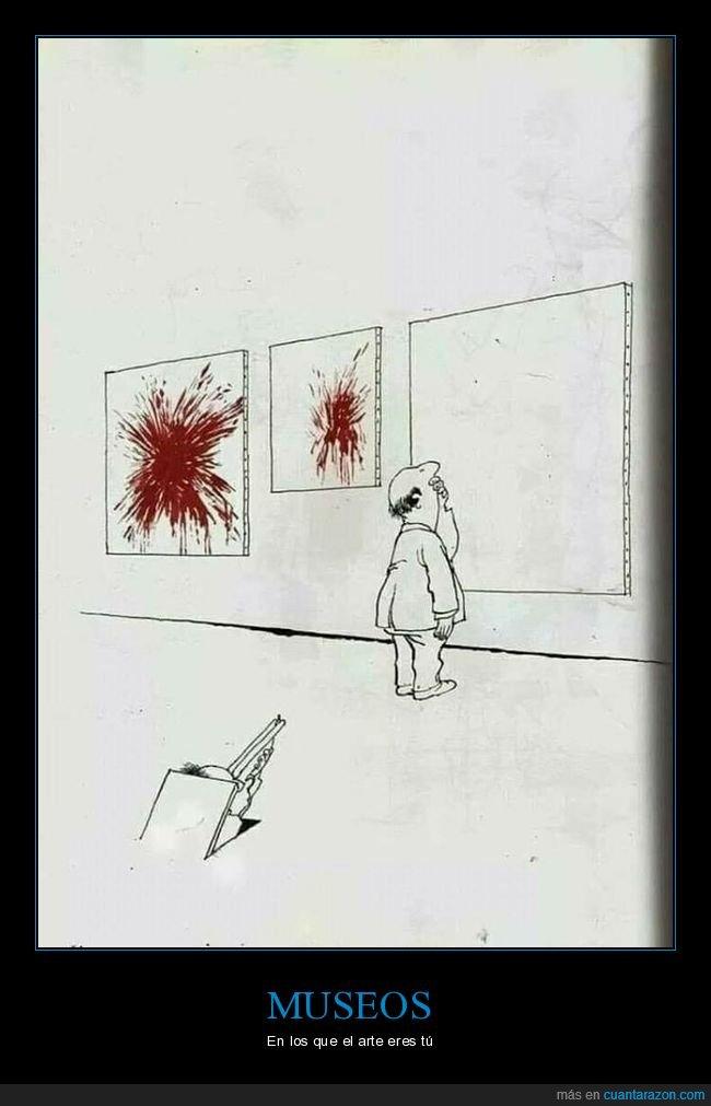 arte,disparo,sangre