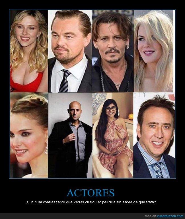 actores,confiar,cualquier película,ver
