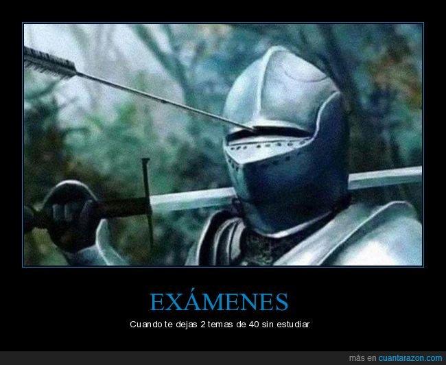 armadura,estudiar,examen,flecha,temas
