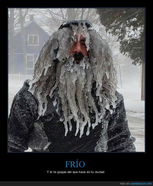 barba,frío,hielo,wtf
