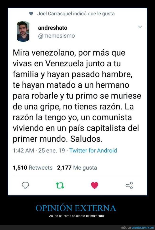 extranjeros,opinión,venezuela